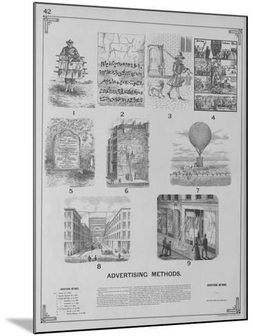 Advertising Methods--Mounted Giclee Print