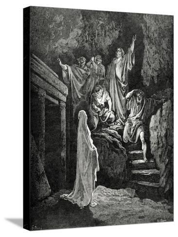Resurrection of Lazarus--Stretched Canvas Print