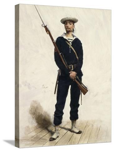 Sailor in Uniform, 1880--Stretched Canvas Print