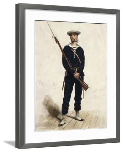 Sailor in Uniform, 1880--Framed Art Print