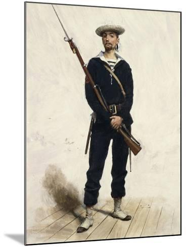 Sailor in Uniform, 1880--Mounted Giclee Print