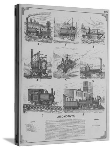 Locomotives--Stretched Canvas Print