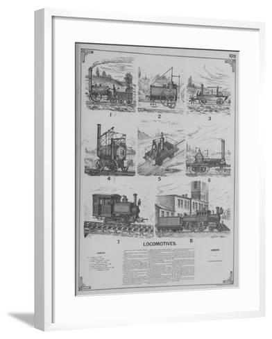 Locomotives--Framed Art Print