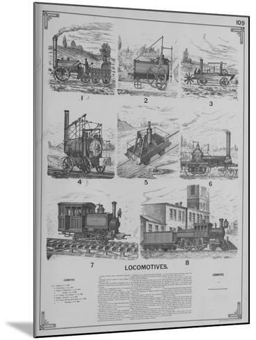 Locomotives--Mounted Giclee Print