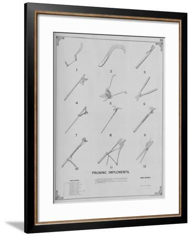 Pruning Implements--Framed Art Print