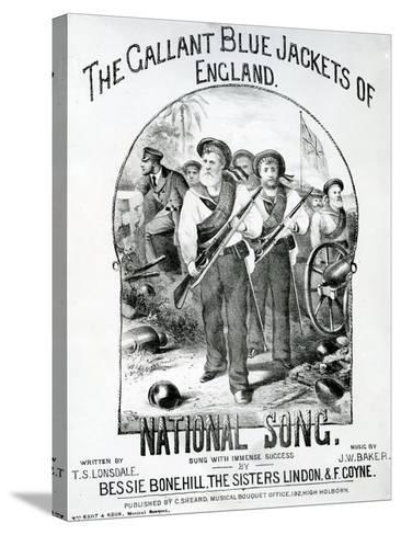 The Gallant Blue Jackets of England--Stretched Canvas Print
