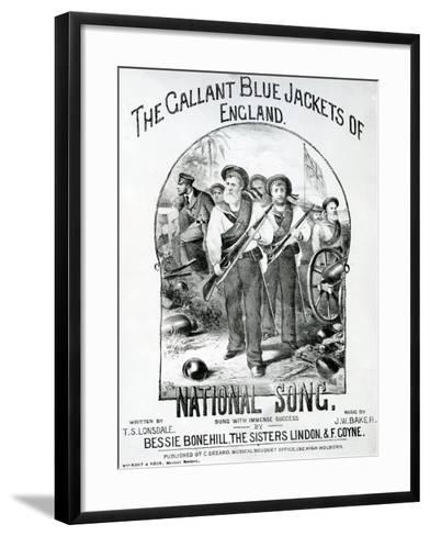 The Gallant Blue Jackets of England--Framed Art Print
