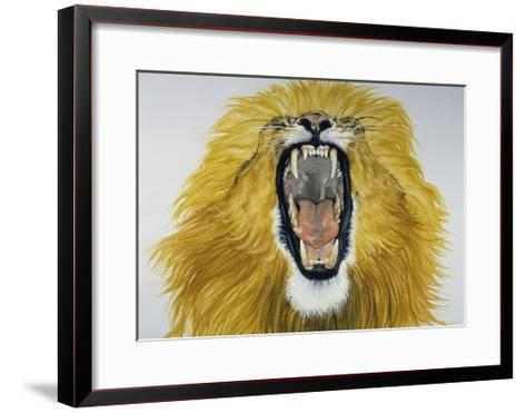 Lion (Phantera Leo), Felidae--Framed Art Print