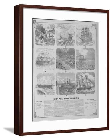 Ship and Boat Building--Framed Art Print