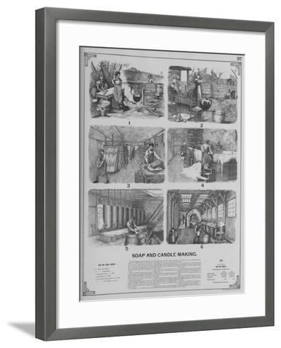 Soap and Candle Making--Framed Art Print