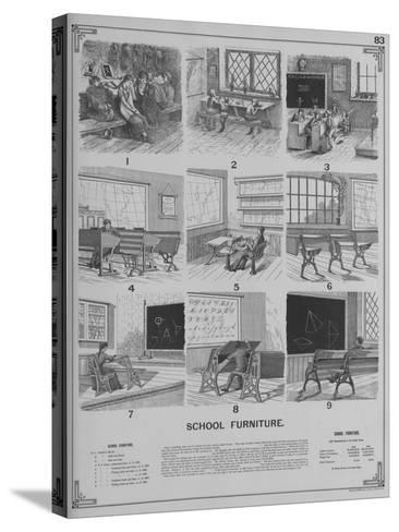 School Furniture--Stretched Canvas Print