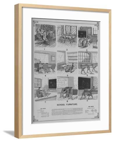 School Furniture--Framed Art Print
