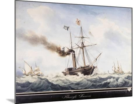 Steamship, France, 19th Century--Mounted Giclee Print