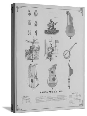 Musical Instruments - Banjos and Guitars--Stretched Canvas Print