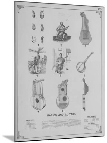 Musical Instruments - Banjos and Guitars--Mounted Giclee Print