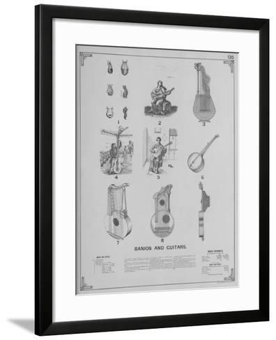 Musical Instruments - Banjos and Guitars--Framed Art Print