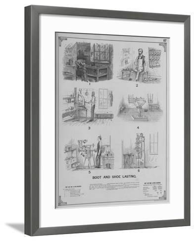 Boot and Shoe Lasting--Framed Art Print