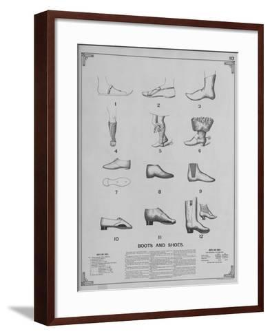 Boots and Shoes--Framed Art Print