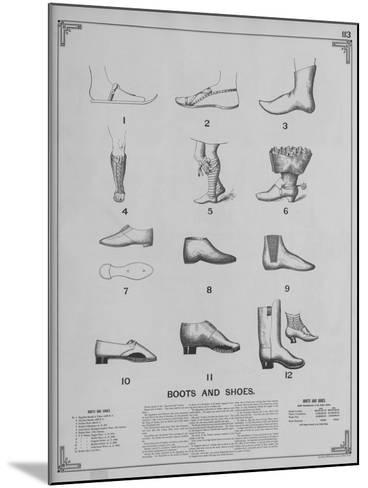 Boots and Shoes--Mounted Giclee Print