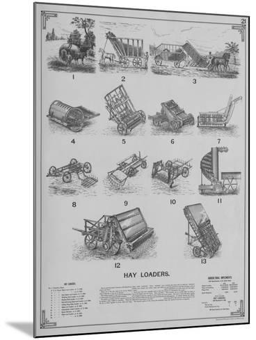 Agricultural Implements - Hay Loaders--Mounted Giclee Print