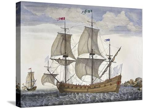 Cargo Vessel, France, 18th Century--Stretched Canvas Print