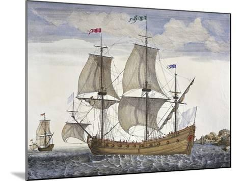 Cargo Vessel, France, 18th Century--Mounted Giclee Print