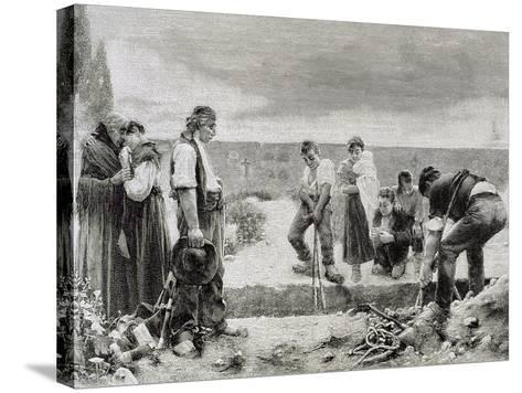 Spain, Burial,--Stretched Canvas Print