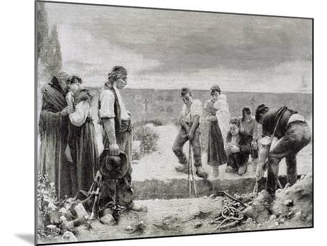 Spain, Burial,--Mounted Giclee Print