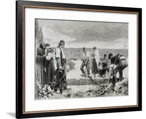 Spain, Burial,--Framed Art Print