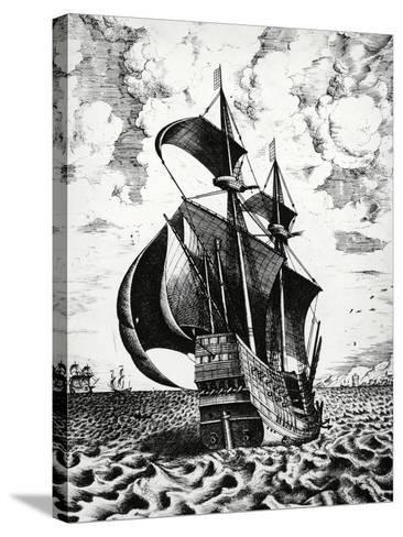 Dutch Galleon, 17th Century--Stretched Canvas Print