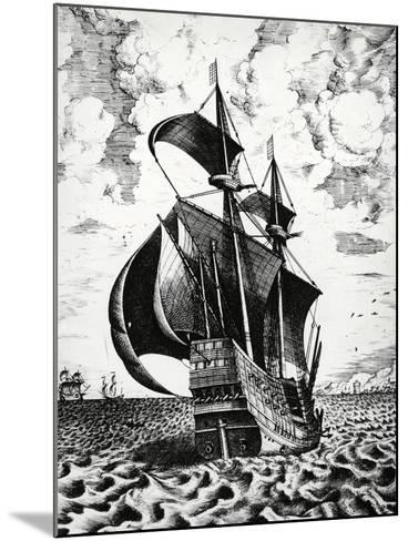 Dutch Galleon, 17th Century--Mounted Giclee Print