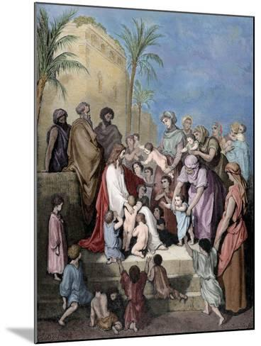 Jesus Blessing the Children--Mounted Giclee Print