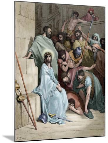 Jesus Insulted--Mounted Giclee Print