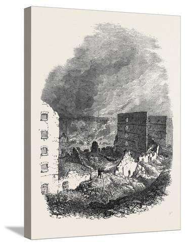 The Ruins of Cotton's Wharf the Great Fire in Southwark July6 1861--Stretched Canvas Print