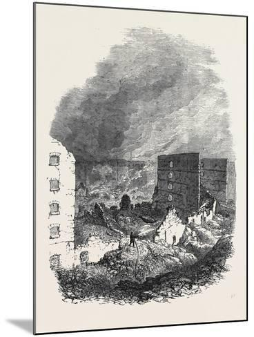 The Ruins of Cotton's Wharf the Great Fire in Southwark July6 1861--Mounted Giclee Print