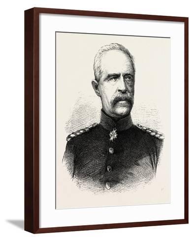 Franco-Prussian War: Bonin General, Governor General of Lorraine--Framed Art Print