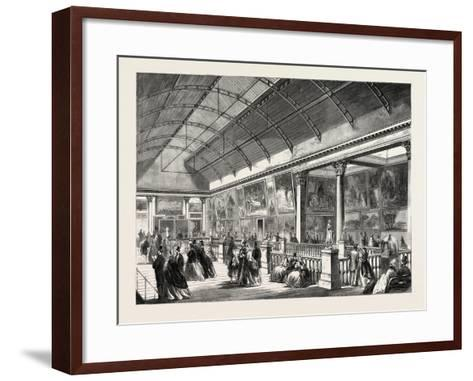 The Picture Gallery in Dublin International Exhibition, Ireland, 1865--Framed Art Print