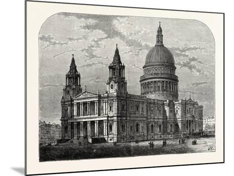 Exterior of St. Paul's Cathedral from the South-West 1800 London--Mounted Giclee Print
