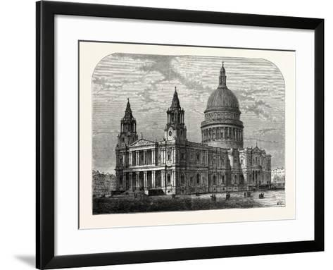Exterior of St. Paul's Cathedral from the South-West 1800 London--Framed Art Print