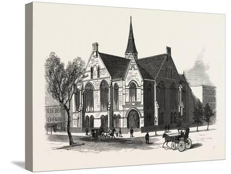 New York: New First Baptist Church on Pierrepont Street Brooklyn--Stretched Canvas Print