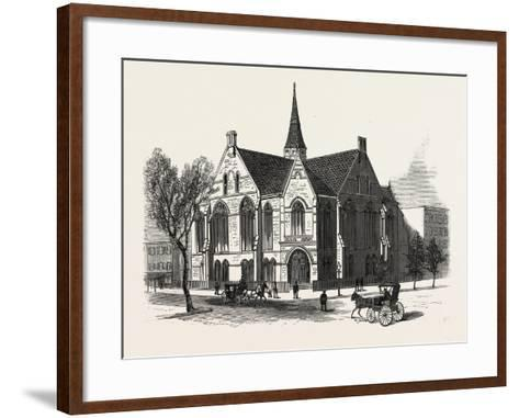 New York: New First Baptist Church on Pierrepont Street Brooklyn--Framed Art Print