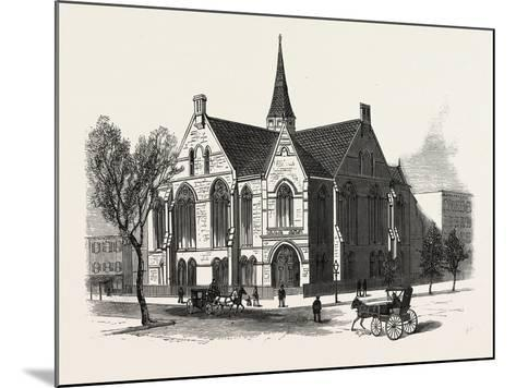 New York: New First Baptist Church on Pierrepont Street Brooklyn--Mounted Giclee Print