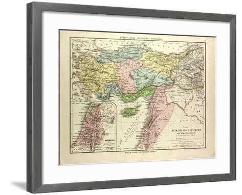 Map of the Asian Provinces of the Roman Empire (Small Asia and Syria)--Framed Art Print