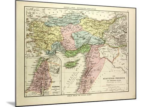 Map of the Asian Provinces of the Roman Empire (Small Asia and Syria)--Mounted Giclee Print