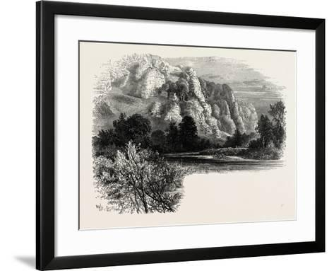 Dove Dale, the Dales of Derbyshire, Country, UK, 19th Century--Framed Art Print