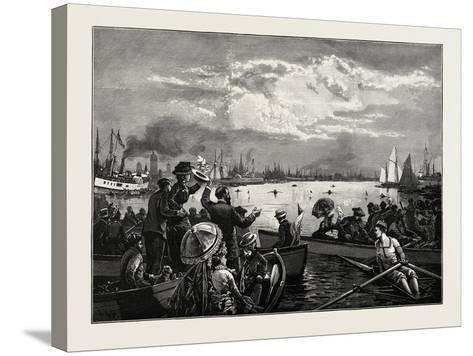 Toronto Harbour, a Sculling Match, Canada, Nineteenth Century--Stretched Canvas Print