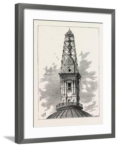 The Scaffolding and Observatory on St. Paul's in 1848 London--Framed Art Print