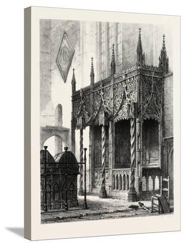The Tomb of the Howards at Arundel Church, UK., 19th Century--Stretched Canvas Print