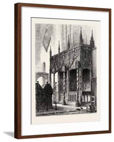 The Tomb of the Howards at Arundel Church, UK., 19th Century--Framed Art Print
