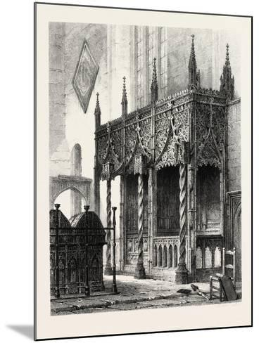 The Tomb of the Howards at Arundel Church, UK., 19th Century--Mounted Giclee Print